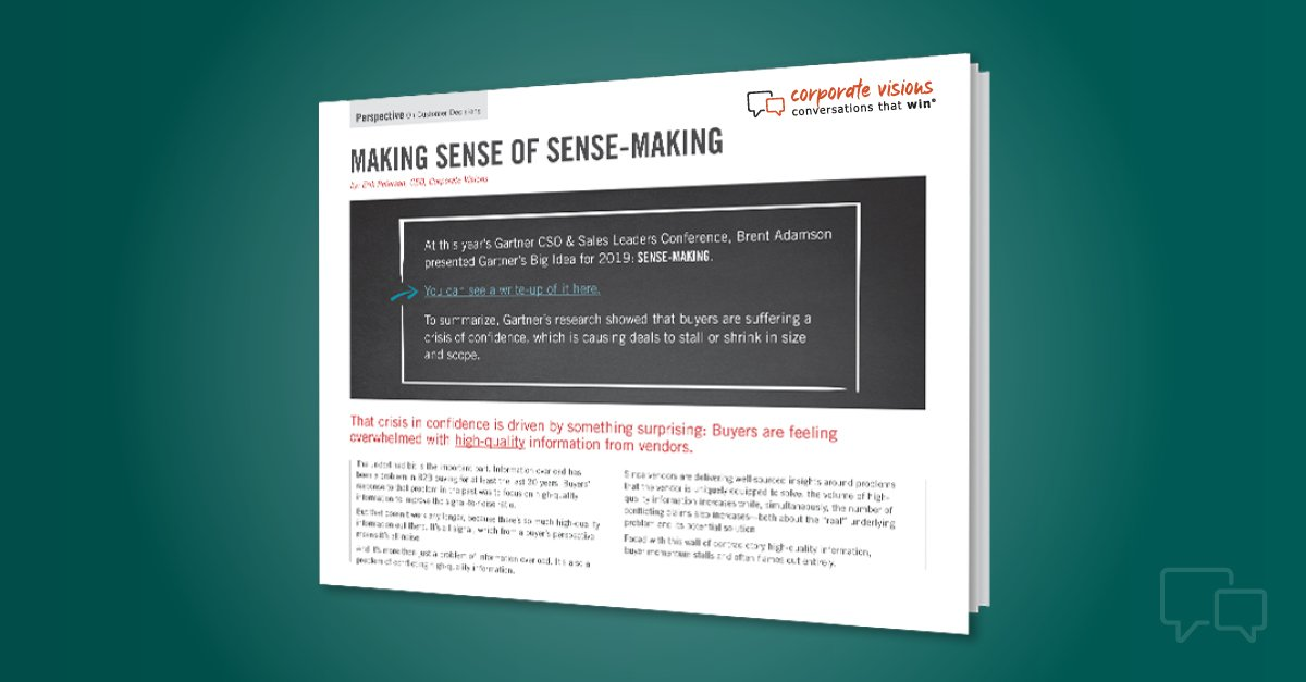 sense-making customer decisions